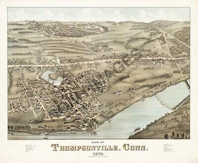 - Thompsonville Connecticut c1878 panoramic map repro 24x20