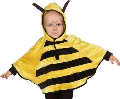 Childs Girls Boys Bumble Bee Animal Insect Hood Cape Fancy Dress Costume Outfit ()