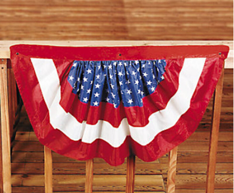 2 Patriotic Bunting American 4th of July Party Banner Flag Decor Porch Balcony