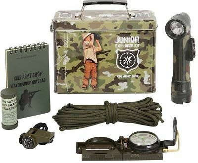 KAS Kids Army Explorer Kit Junior Camo Military Soldiers Childrens Toy Gift New (Kids Army Kit)