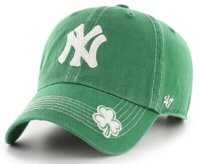 New York Yankees MLB '47 St Patty's Fatty Green Hat Cap Patrick's Day Adjustable - St Pattys Day Hat