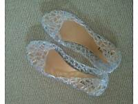 New sparkly jelly sandals (pumps size6)
