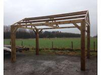 New wooden carport / hot tub shelter ( 4.2m )