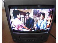 Bush 14 inch Colour Analogue Portable TV Video Combi Unit with remote BTV18SIL/VA