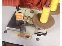 Overlocker Machine SIRUBA 5 Thread Industrial COMMERCIAL Serger 757D Stand sewing - fully working