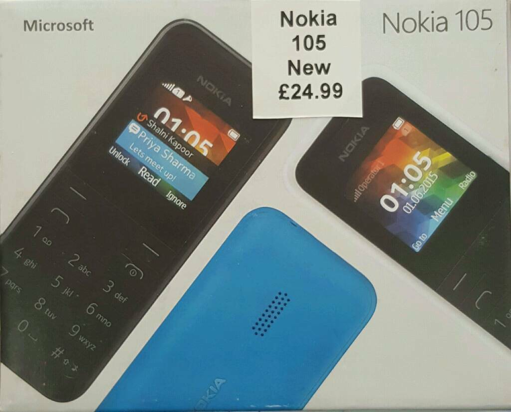 Orignal Nokia 105 Uk Stock Blackunlockedbrand New With Warranty Dual Sim Handphone Black