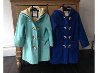 Girls Duffle coats from Boden one Blue one turquoise £25 each