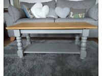 Chic not Shabby Painted Solid Pine Coffee Table