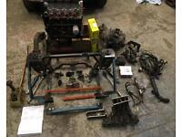 Classic Mini Allspeed C16SE conversion subframe and new engine with conversion parts