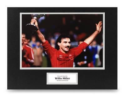 Willie Miller Signed 16x12 Photo Display Aberdeen Autograph Memorabilia + COA