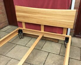 Heals Of London, Brunel Oak Double Bed Frame, New & Unused.