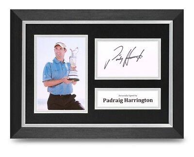 Padraig Harrington Signed A4 Framed Photo Display Golf Autograph Memorabilia COA