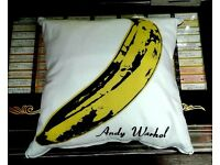 Brand new famous n iconic Velvet Underound, Andy Warhol 'Banana' LP cover cushions.