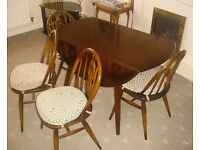 Ercol table and 4 chairs for kitchen or small dining room