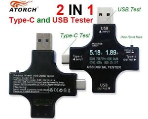 Atorch USB and Type-C Multifunctional Safety Voltage and Current Digital Tester
