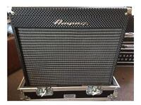 Ampeg Portaflex 210 bass cab with flight case