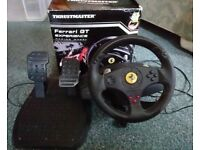 Ferrari Thrustmaster PS Wheel, fully tested and working.