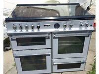 Silver Leisure Rangemaster Double oven Range cooker