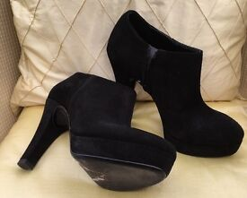 Precis black suede ankle boots