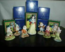 Royal Doulton rare Snow White & 7 dwarfs mib