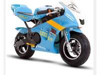 49cc/50cc kxd 2018 mini moto pocket bike rizla edition or blue