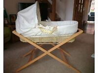 Moses basket & Stand only £15