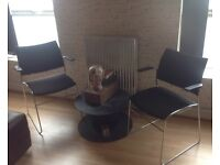 2 black and chrome chairs ideal home/shop bar