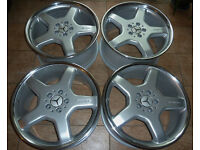 Genuine ( OEM ) 19'' Mercedes AMG Alloy wheels * Staggered * Refurbished