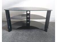 Glass black TV stand / shelf unit £35 o.n.o.