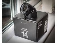 Fujinon 14m XF 2.8R lens