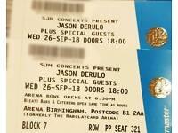 2 X JASON DERULO TICKETS | Arena Birmingham | 26 Sept 18