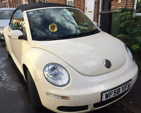 VW Beetle Cabriolet 2008 1.6 Luna Harvest Moon Beige - good condition, two lady owners, 51,800 miles
