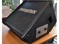 Wedge monitor loaded with Fane 12 inch speaker and horn