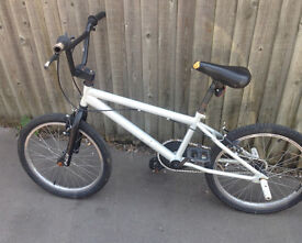 BMX bike grey bycicle