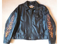 Genuine Harley Davidson men's leather riding jacket - 2XL - excellent condition