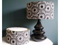 Large Monsoon Black and White Lamp and Pendant Shade.