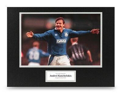 Andrei Kanchelskis Signed 16x12 Photo Display Rangers Autograph Memorabilia +COA