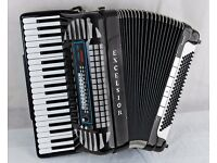 Excelsior 940 MIDI VOX III - 120 Bass Accordion - Musette - Double Cassotto with Factory MIDI & MICS
