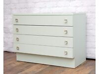 1960's vintage Chest of drawers painted in Laurel green