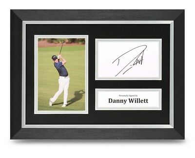 Danny Willett Signed A4 Framed Photo Display Masters Autograph Memorabilia + COA