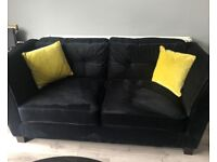 Velvet sofa 2 and two 3 seater