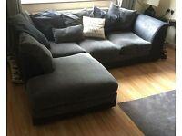 Black and grey corner suite