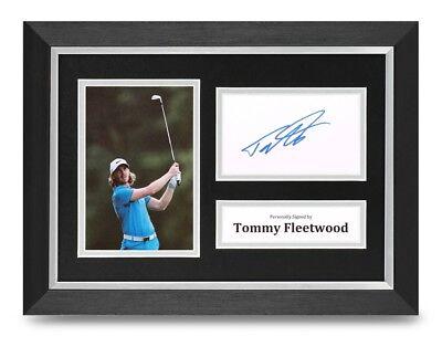 Tommy Fleetwood Signed A4 Framed Photo Display Golf Autograph Memorabilia + COA