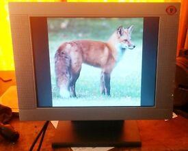 PC Monitor Flat Screen 15 inches Model EM 150 TFT Brilliant Bright Picture ***FREE!***