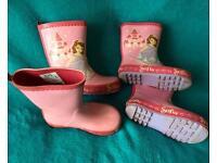 2 x Inf Size 8 (25.5eur) Next girls sofia wellies/boots