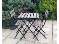 Garden / patio table & 2 chairs, bistro set from Ikea