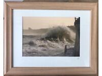 Waves on Whitby Harbour - Framed Photographic Print