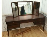 Vintage Stag Minstrel Dressing Table and Matching Stool
