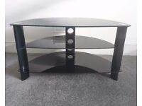 Glass black TV stand / shelf unit