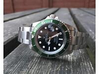Rolex anniversary submariner automatic watch